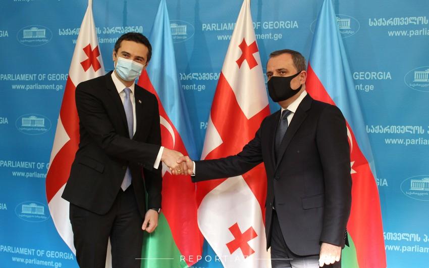 Ceyhun Bayramov Gürcüstan parlamentində görüş keçirib