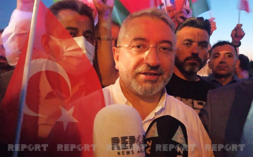 """Türkiyənin bələdiyyə sədri: """"Biz azərbaycanlıları qardaş bilirik"""""""