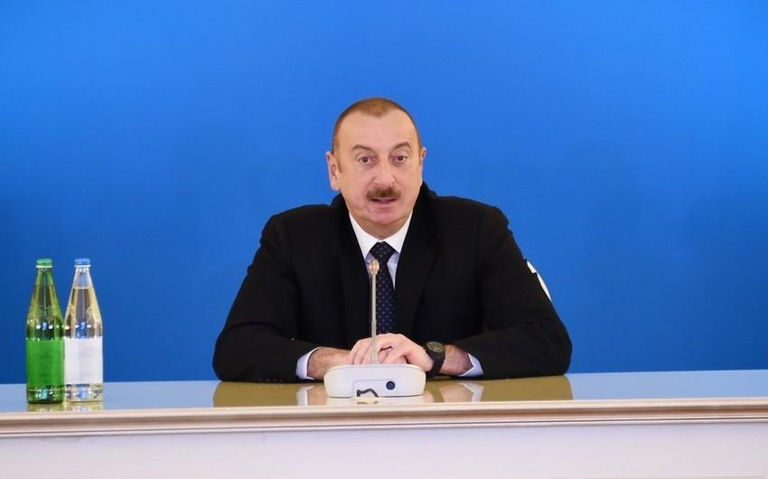 """Azərbaycan Prezidenti: """"Enerji təhlükəsizliyi hər bir dövlətin milli təhlükəsizliyinin ayrılmaz hissəsidir"""""""