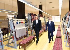 """İlham Əliyev """"Azərxalça"""" ASC-nin Naxçıvan filialının açılışında iştirak edib - YENİLƏNİB"""