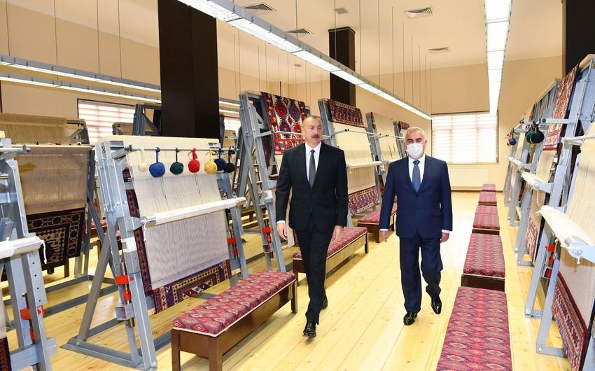 Президент Ильхам Алиев принял участие в открытии Нахчыванского филиала ОАО Азерхалча