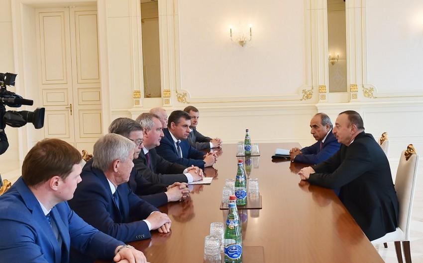 Azərbaycan Prezidenti Rusiya baş nazirinin müavinini qəbul edib