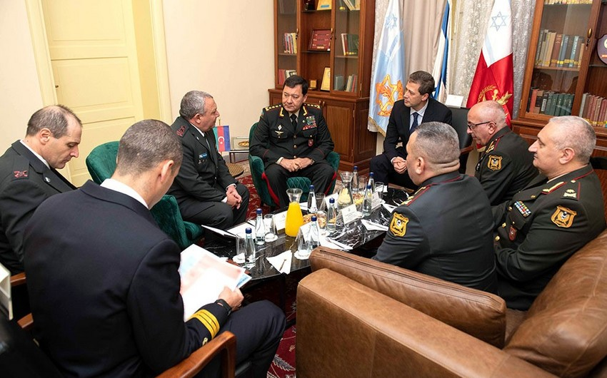 Chief of General Staff of the Armed Forces of Azerbaijan meets with his Israeli counterpart