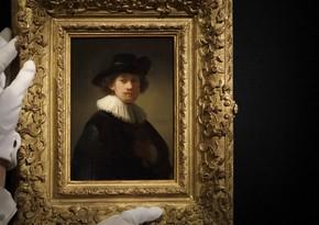 Rembrandtın avtoportreti 18,7 milyon dollara satıldı