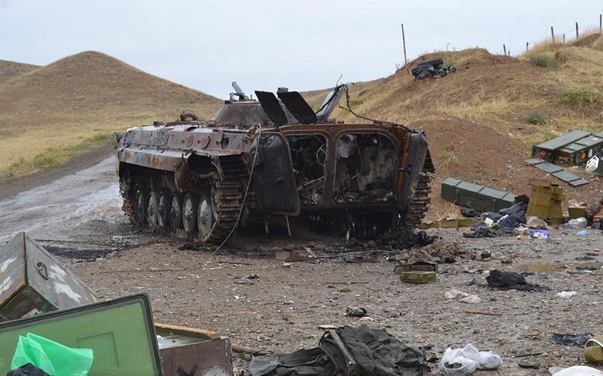 MN: Düşmənin əlahiddə zirehli tank taborunun komandiri məhv edilib