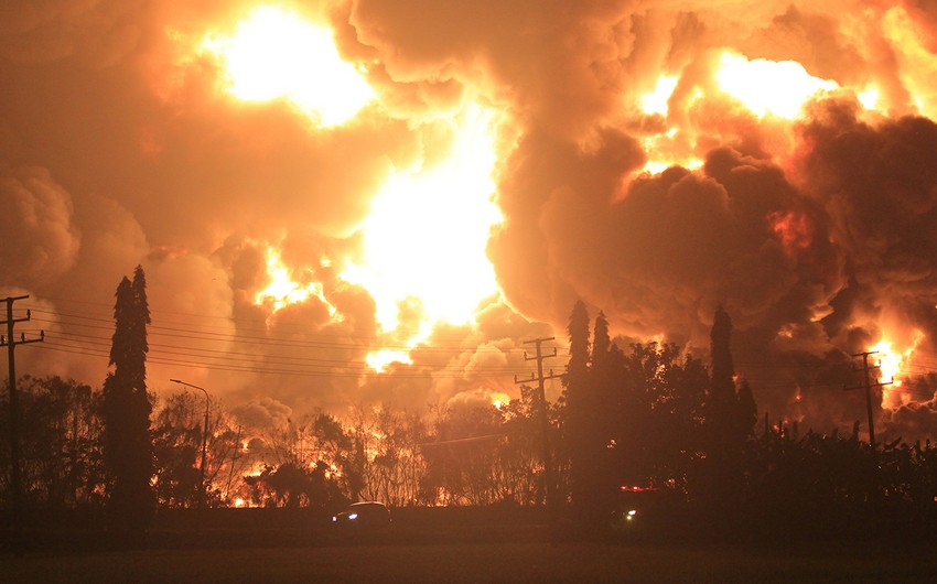 Several injured during oil refinery fire in Indonesia's West Java Province