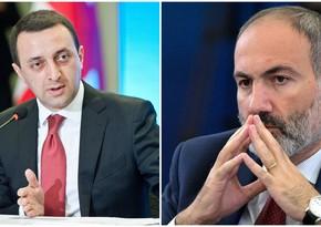 Georgian, Armenian PMs hold phone talk