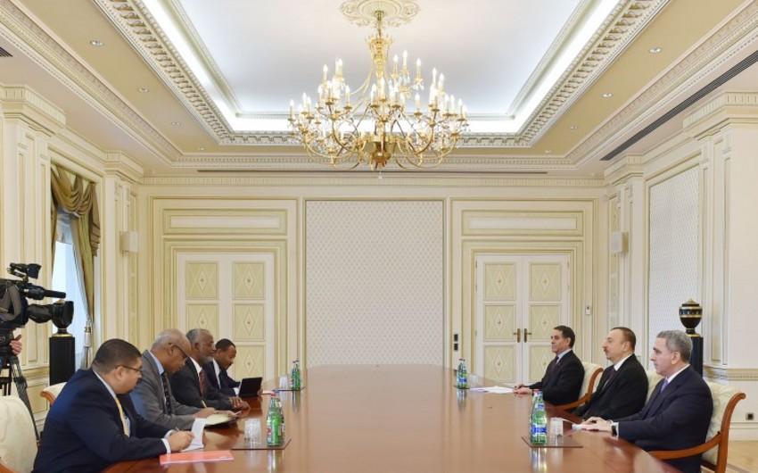 Azərbaycan Prezidenti Sudanın xarici işlər nazirinin başçılıq etdiyi nümayəndə heyətini qəbul edib