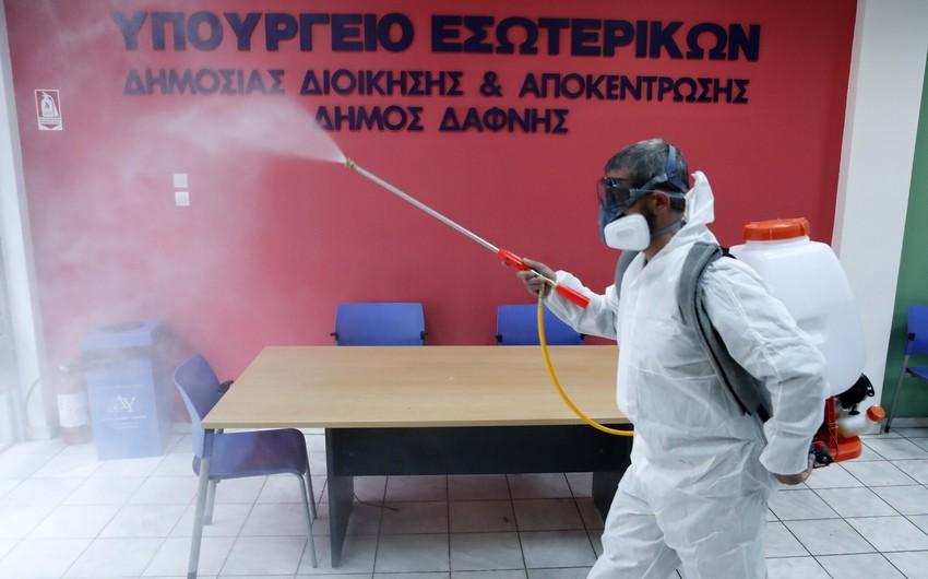 Yunanıstanda koronavirusdan ölüm halı qeydə alınmayıb