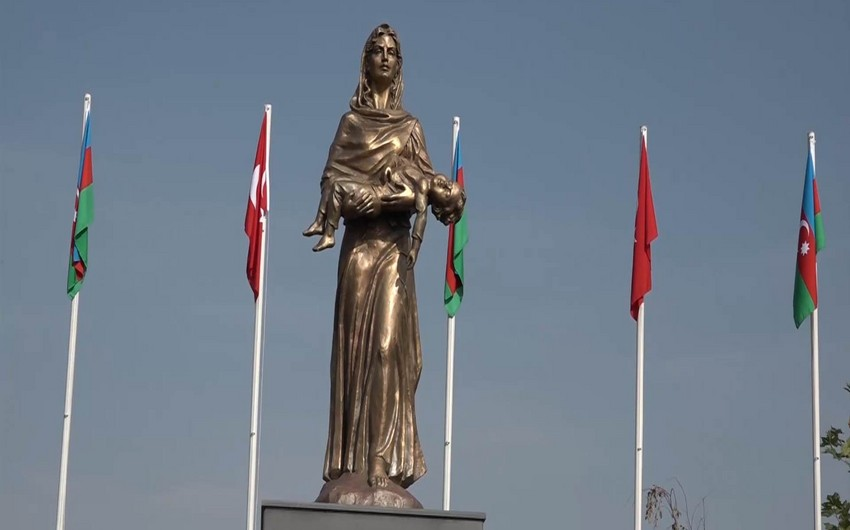 Türkiyənin Kayseri şəhərində Xocalı parkı və abidəsinin açılışı olub - FOTO