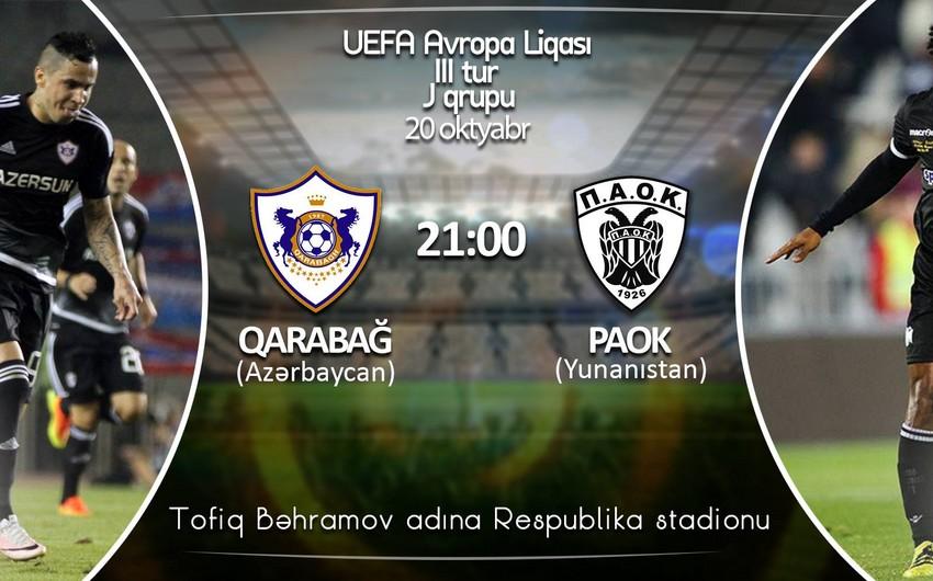 Qarabağ - PAOK oyununa 5 000 bilet satılıb