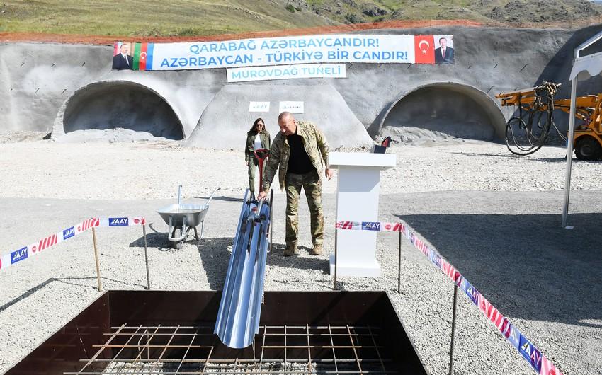 Президент Ильхам Алиев заложил фундамент Лачинского международного аэропорта