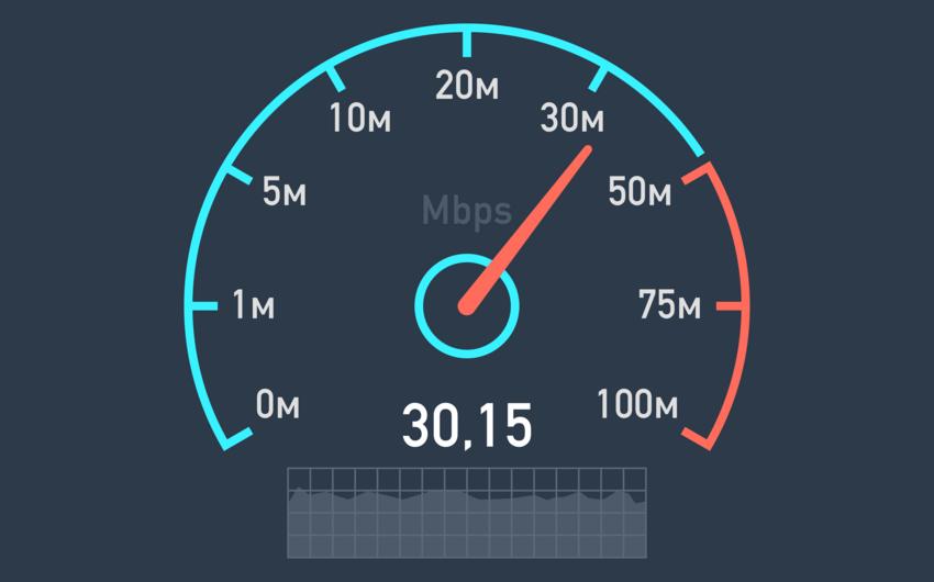 Азербайджан опустился в рейтинге стран по скорости интернета