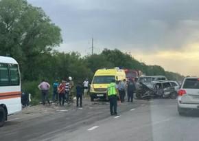 Семь человек погибли в ДТП в Казахстане - ФОТО