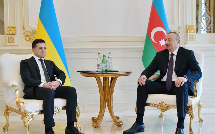 Zelinski Azərbaycan Prezidentini təbrik etdi