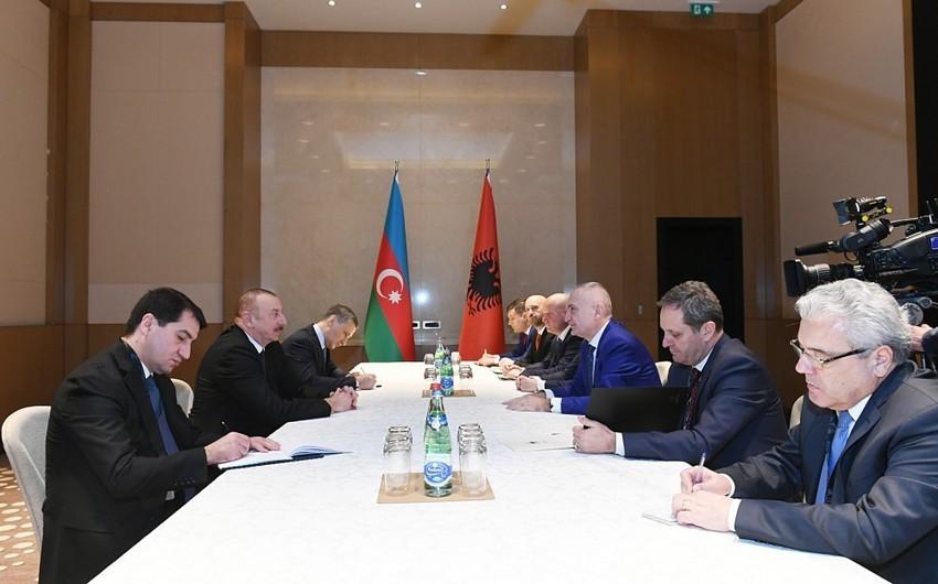 Azərbaycan və Albaniya prezidentlərinin görüşü olub