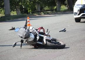 Paytaxtda avtobusla motosiklet toqquşdu