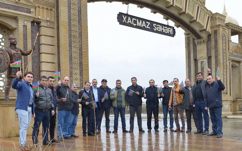 Parlament jurnalistləri Şimal bölgəsində bayraq aksiyası keçiriblər
