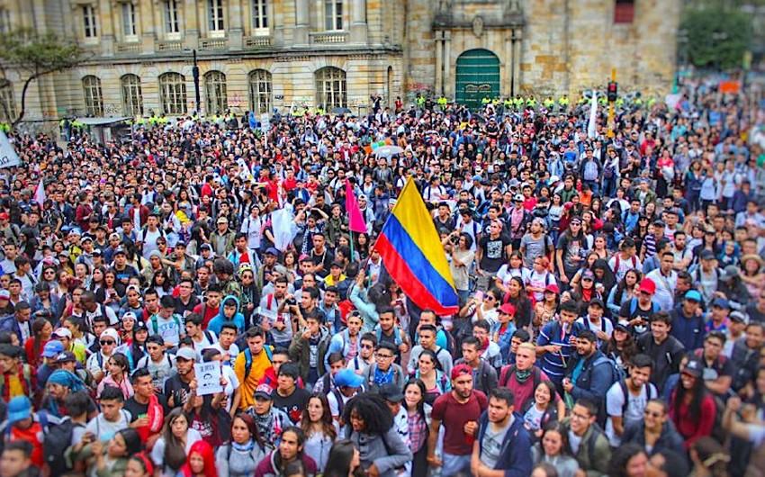 Kolumbiyada iğtişaşlar zamanı 115 nəfər saxlanılıb