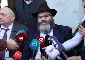 Главный раввин евреев-ашкенази о поездке в Агдам: Очень печально видеть все это