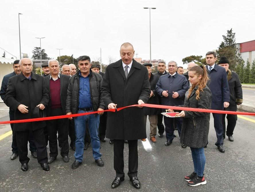 Prezident İlham Əliyev Mərdəkan-Qala avtomobil yolunun açılışında iştirak edib