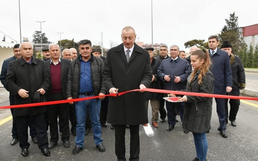 President Ilham Aliyev attended opening of Mardakan-Gala highway