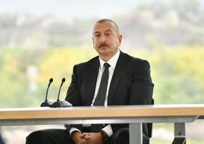 Глава государства: После 27 лет армянской оккупации Зангилан вернулся на Родину