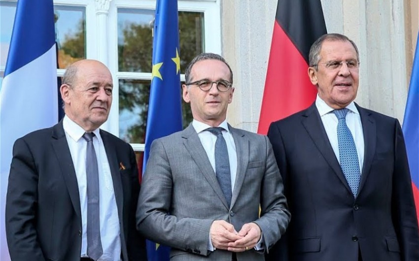 Russian, French, German FMs mull situation in Karabakh
