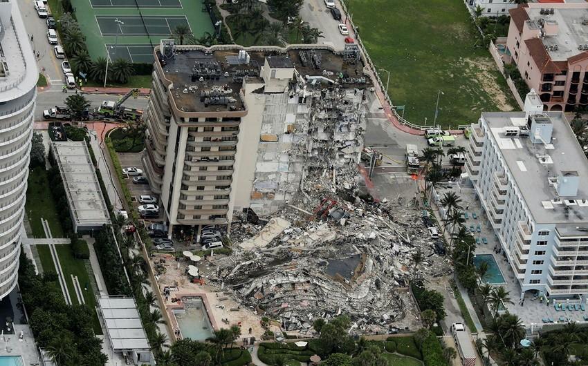 Floridada çökən binada ölənlərin sayı 97 nəfərə yüksəldi