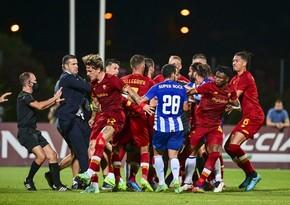 Roma və Portu komandalarının oyununda dava düşüb