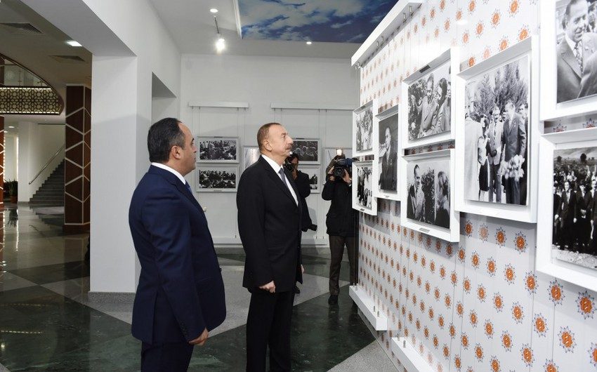 President Ilham Aliyev arrived in Aghstafa district for a visit