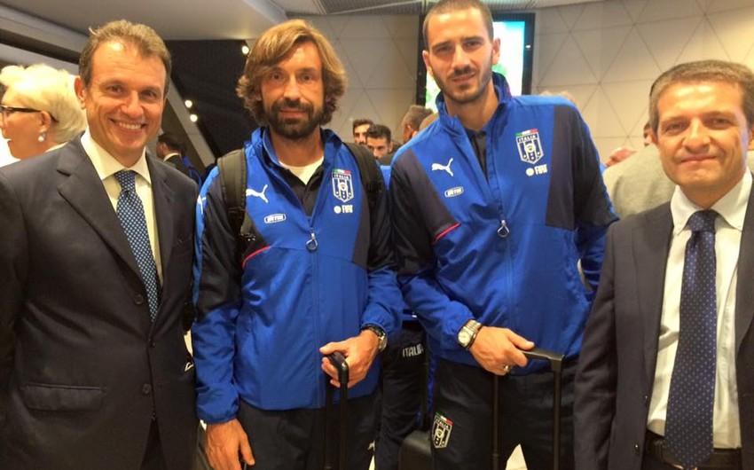 Futbol üzrə İtaliya yığma komandası Bakıya gəlib