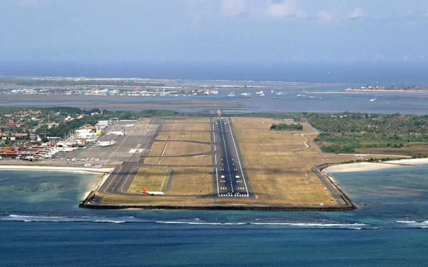 Bali hava limanı daha bir gün bağlı qalacaq
