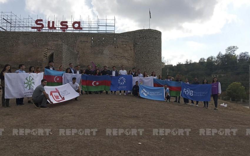 Representatives of Azerbaijani youth organizations visit Shusha
