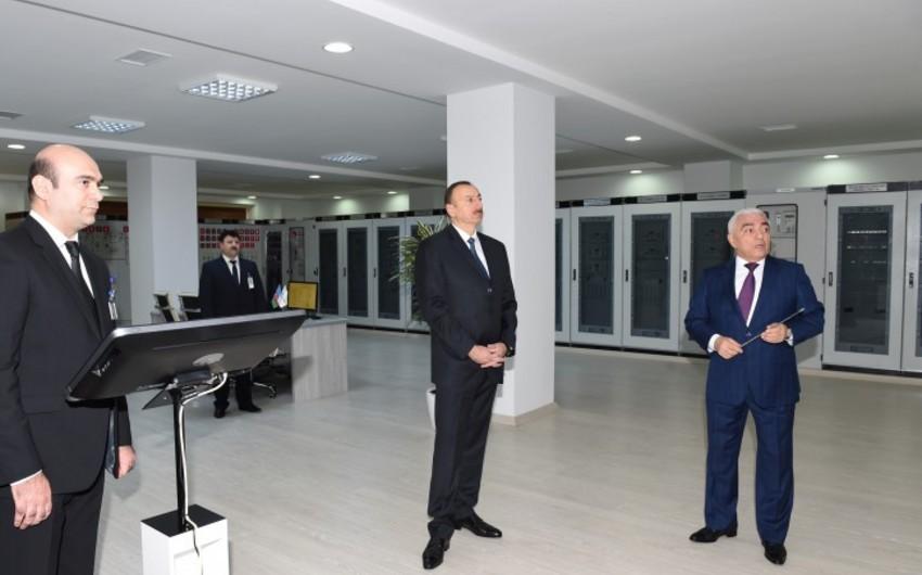 """Prezident İlham Əliyev """"Ağ şəhər-1"""" elektrik yarımstansiyasının açılışında iştirak edib"""