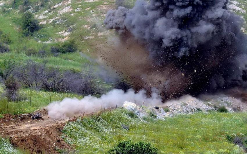 Azərbaycan Ordusunun giziri minaya düşüb