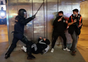 В Испании задержаны десятки протестующих