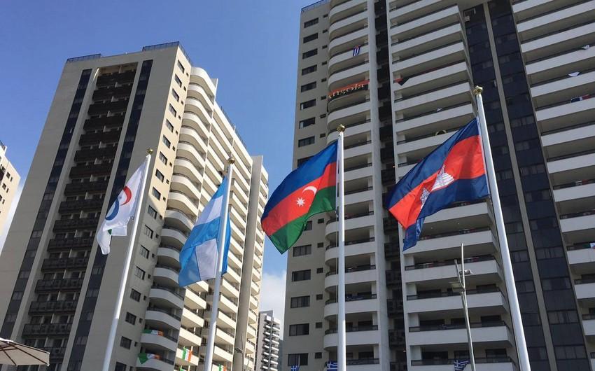 Rio-de-Janeyronun Atletlər Kəndində Azərbaycan bayrağı yüksəldilib