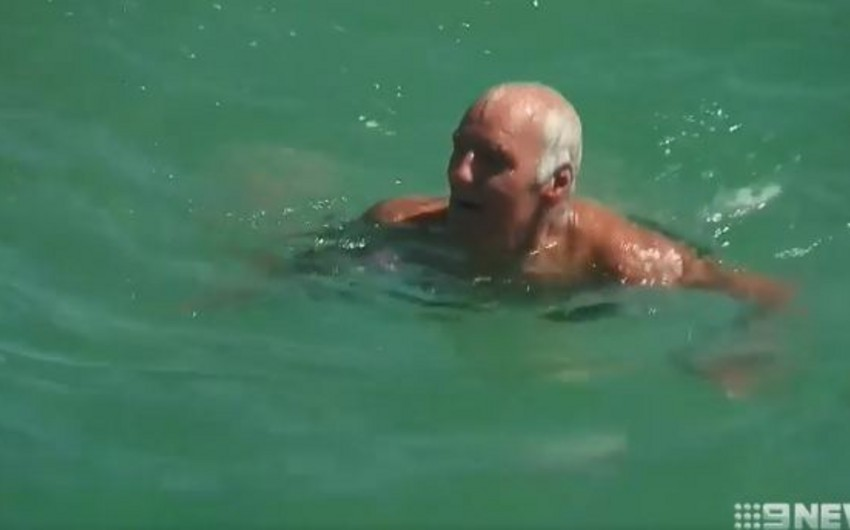 Avstraliyada 69 yaşlı kişi köpək balığını yumruqlayaraq ondan xilas olub - VİDEO