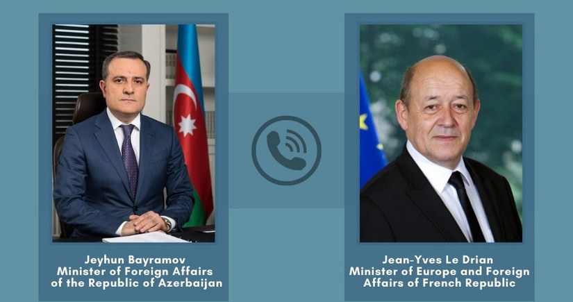 Foreign Ministers of Azerbaijan and France hold phone conversation