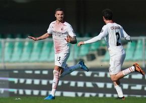 """İtaliya A Seriyası: """"Milan Veronaya qalib gəlib"""