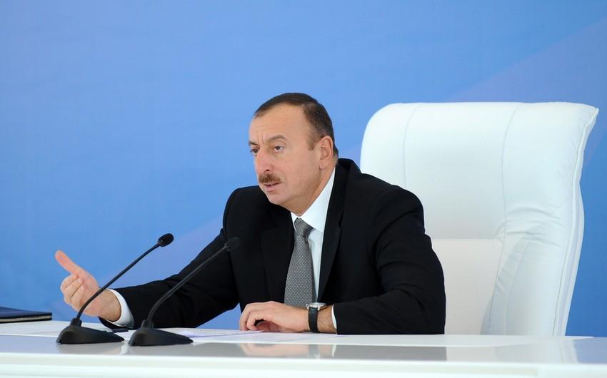 """Azərbaycan Prezidenti: """"Məqsədimiz nefti insan kapitalına çevirməkdir"""""""