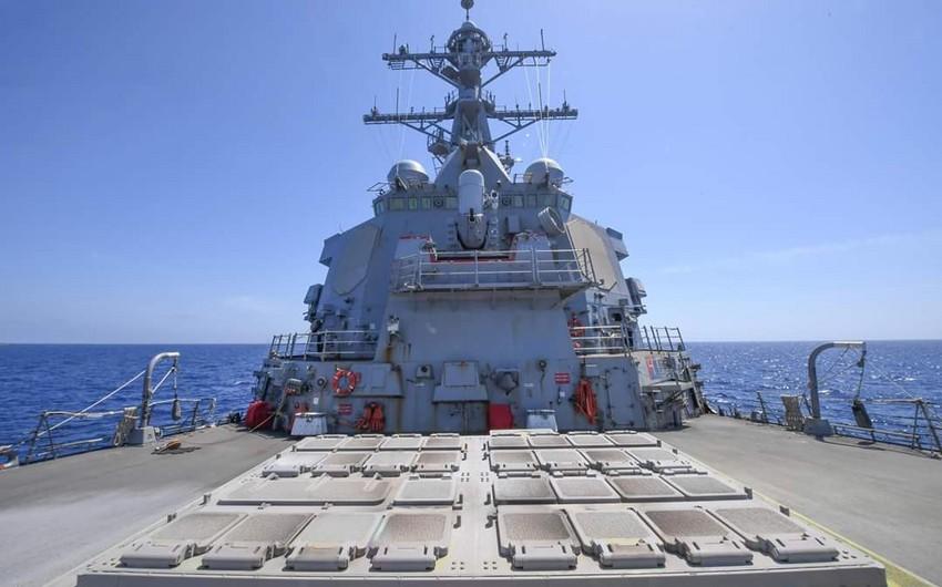 ABŞ hərbi gəmisi Gürcüstan limanına daxil olub