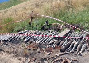Ammunition found in liberated territories of Khojavend district