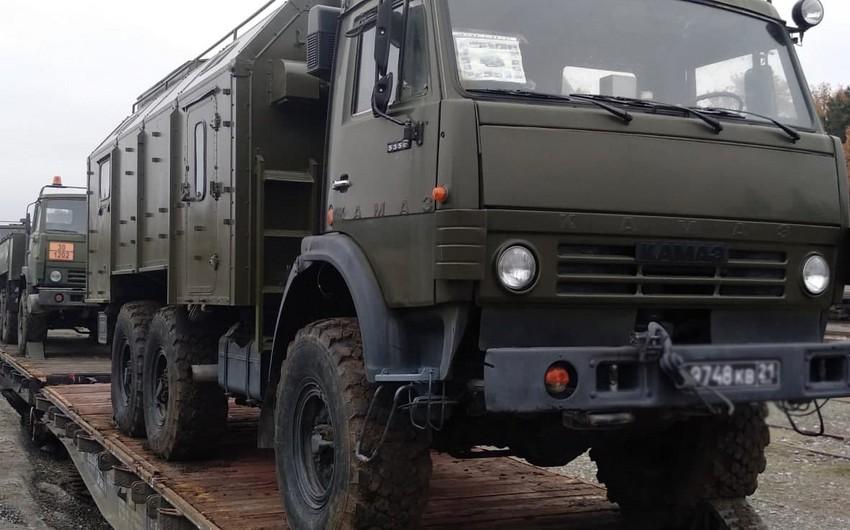 Доставляются средства материально-технического обеспечения для миротворческого контингента