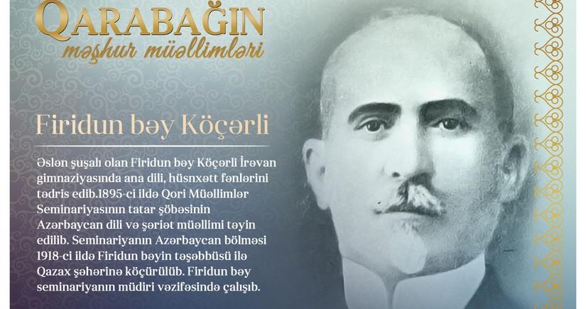 Qarabağın məşhur müəllimləri - Firidun bəy Köçərli