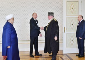 President Ilham Aliyev received delegation of group of Muslim religious figures of Russia's North Caucasus republics