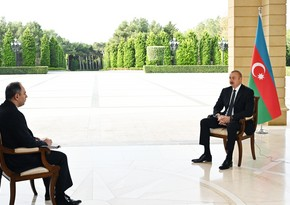 Ilham Aliyev gives interview to Russia's Interfax news agency