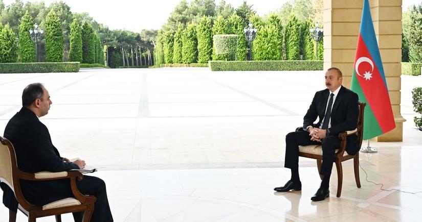 Prezident İlham Əliyev Rusiyanın İnterfaks agentliyinə müsahibə verib