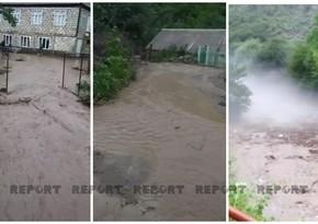 Sel suları Tovuzda ciddi fəsadlar törədib - VİDEO
